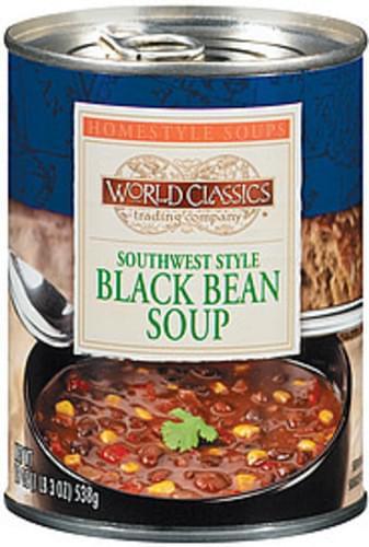 World Classics Trading Company Southwest Style Black Bean Soup - 19 oz