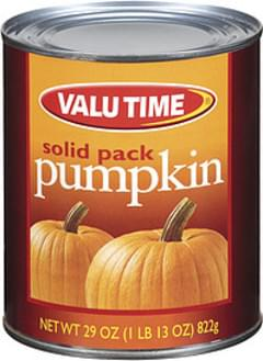 Valu Time Pumpkin Solid Pack