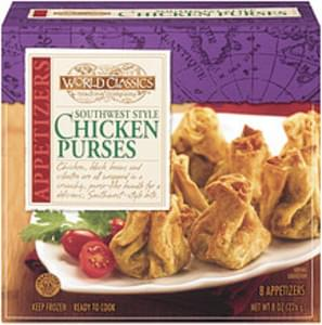 World Classics Trading Company Appetizers Southwest Style Chicken Purses