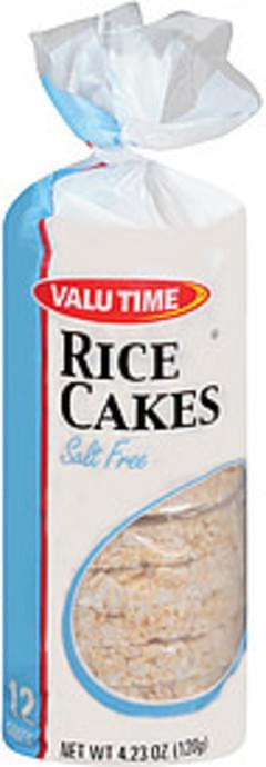Valu Time Rice Cakes Salt Free 12 Cakes
