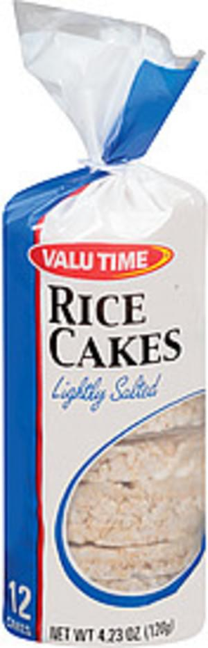 Valu Time Lightly Salted 12 Cakes Rice Cakes - 4.23 oz
