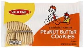 Valu Time Cookies Sandwich Creme, Peanut Butter