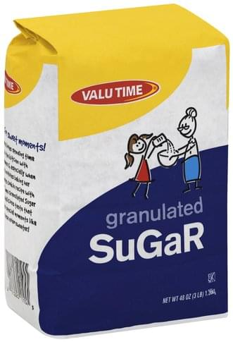 Valu Time Granulated Sugar - 48 oz