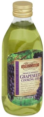 World Classics Premium Imported, Grapeseed Cooking Oil - 17 oz