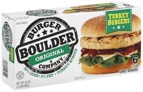 Boulder Burger Turkey Burgers Original