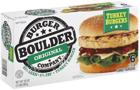 Boulder Burger Original Turkey Burgers - 6 ea