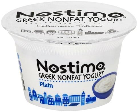 Nostimo Greek, Nonfat, Plain Yogurt - 5.3 oz