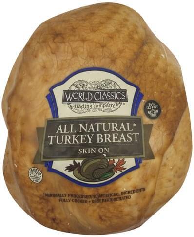 World Classics Skin On Turkey Breast - 1 ea