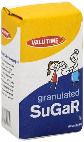Valu Time Granulated Sugar - 4 lb