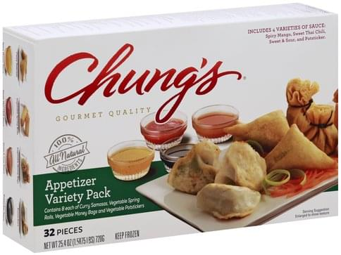 Chungs Variety Pack Appetizer - 32 ea
