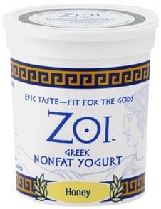 Zoi Yogurt Greek, Nonfat, Honey