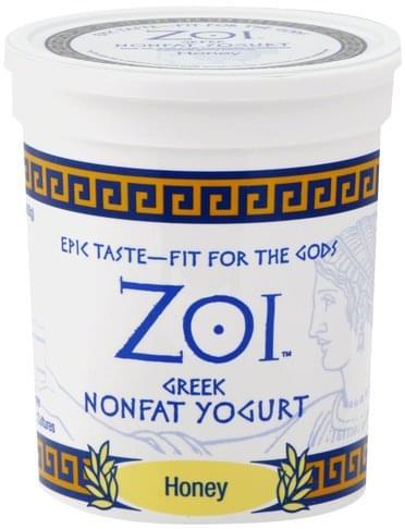 Zoi Greek, Nonfat, Honey Yogurt - 32 oz