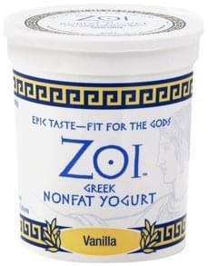 Zoi Yogurt Greek, Nonfat, Vanilla