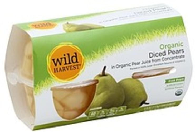 Wild Harvest Organic, Diced, in Organic Pear Juice from Concentrate Pears - 4 ea