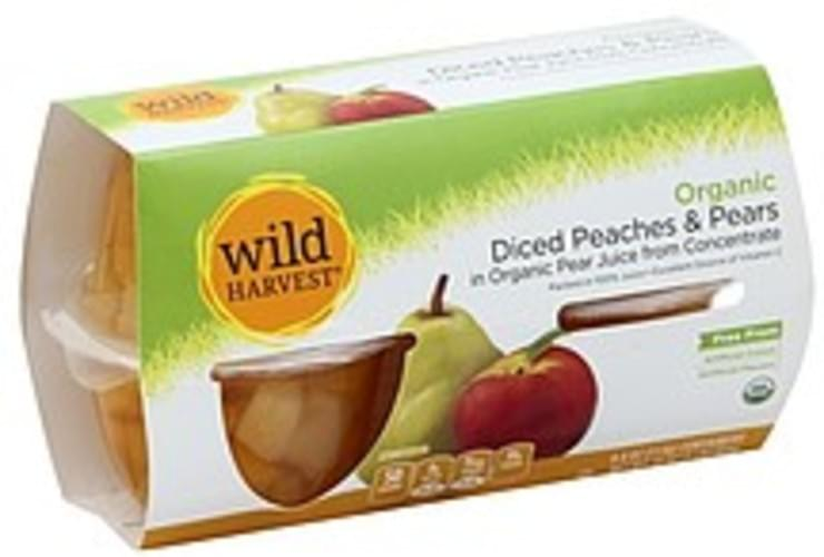 Wild Harvest Organic, Diced, in Organic Pear Juice from Concentrate Peaches & Pears - 4 ea