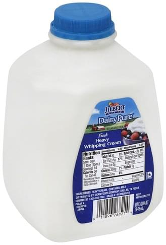 Jilbert Heavy Whipping Cream - 1 QT