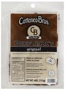 Cattaneo Bros Beef Jerky Cowboy Cut Style, Original