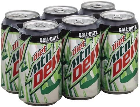 2b6a63f42377 Mountain Dew Diet Soda - 6 ea, Nutrition Information | Innit