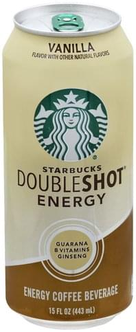 Starbucks Vanilla Energy Coffee Beverage 15 Oz Nutrition