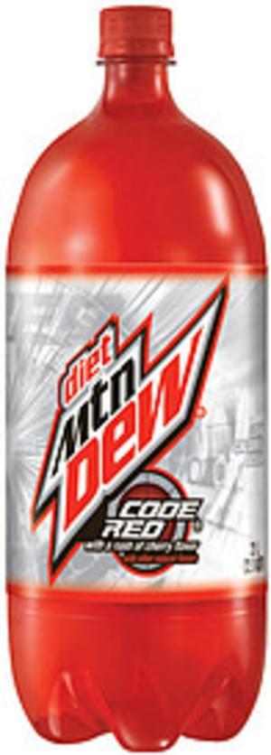 Mountain Dew Diet Code Red Soda - 2 l