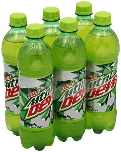 Mountain Dew Soda - 6 ea