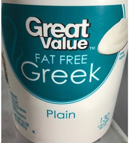 Great Value Plain Fat Free Greek Yogurt - 227 g