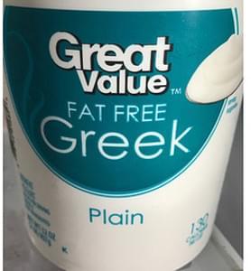 Great Value Fat Free Greek Yogurt Plain