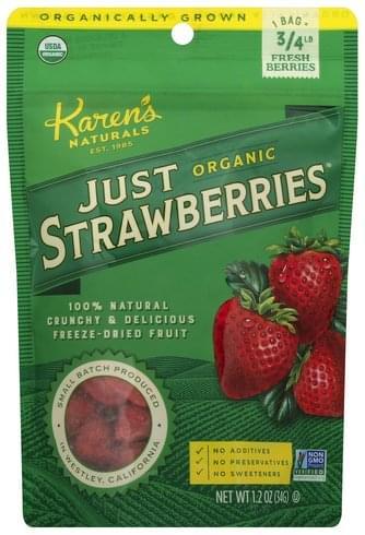 Karens Naturals Organic Just Strawberries - 1.2 oz