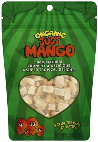 Just Tomatoes Freeze-Dried, Organic Mangos - 1.5 oz