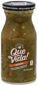 Que Vida Salsa Verde Tradicional, Medium
