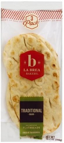 La Brea Bakery Traditional, 3 Pack Naan