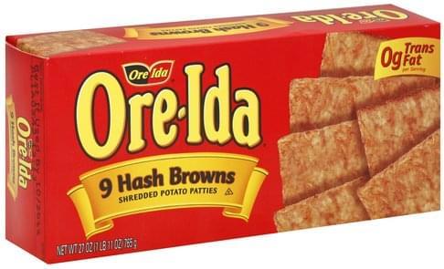 Ore Ida Hash Browns - 9 ea