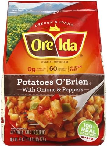 Ore Ida with Onions & Peppers Potatoes