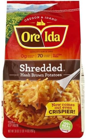Ore Ida Shredded Hash Brown Potatoes