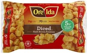 Ore Ida Hash Brown Potatoes Diced, 5 lb Value Size!