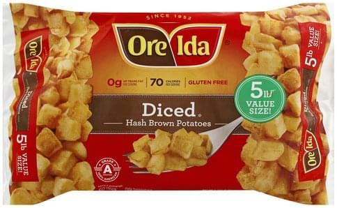 Ore Ida Diced, 5 lb Value Size! Hash