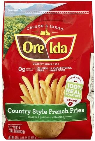 Ore Ida French, Country Style Fries