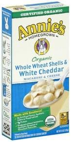 Annies Macaroni & Cheese Whole Wheat Shells & White Cheddar