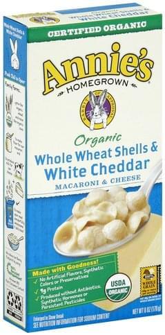 Annies Whole Wheat Shells & White Cheddar Macaroni & Cheese - 6 oz