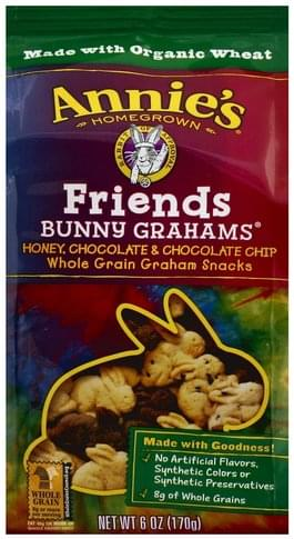 Annies Friends, Honey, Chocolate & Chocolate Chip Bunny Grahams - 6 oz
