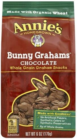 Annies Chocolate Bunny Grahams - 6 oz