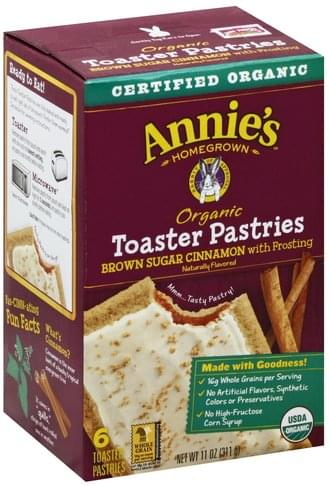 Annies Brown Sugar Cinnamon with Frosting Toaster Pastries - 6 ea