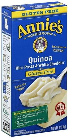 Annies Quinoa Rice Pasta & White Cheddar - 6 oz