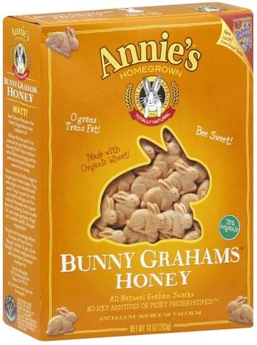 Annies Honey Bunny Grahams - 10 oz