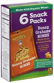 Annies Bunny Grahams Honey, Snack Packs