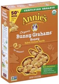 Annies Graham Snacks Organic, Honey, Baked