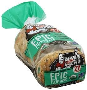 Daves Killer Bread Bagels Organic, Epic Everything