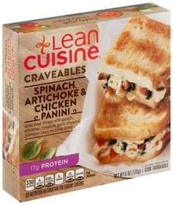 Lean Cuisine Spinach, Artichoke & Chicken Panini