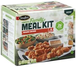Stouffers Meal Kit Complete, Sesame Chicken, Family