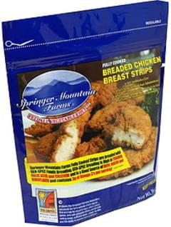 Springer Mountain Farms Chicken Breast Strips Breaded